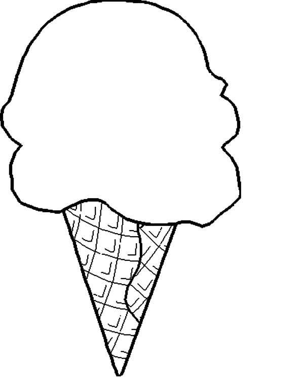 Breaking Ice Cream Cone Coloring Pages