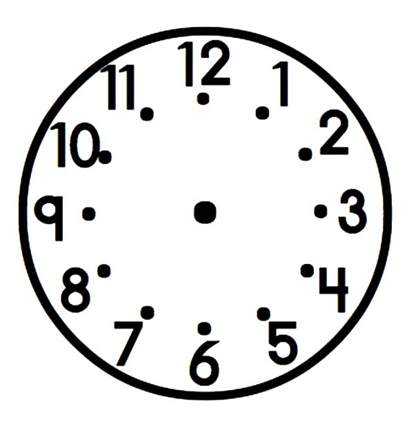 Analog Clock, : Broken Analog Clock Coloring Pages