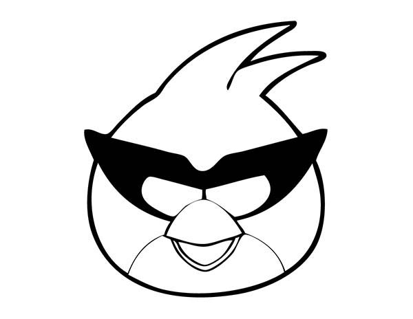 Angry Bird Space, : Captain Red Smile Angry Bird Space Coloring Pages