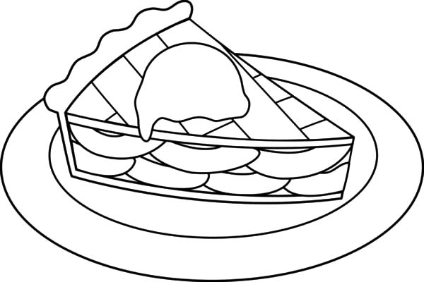 Apple Pie, : Cheese Apple Pie Coloring Pages