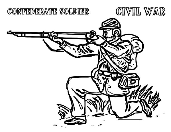 Army, : Civil War Army Coloring Pages
