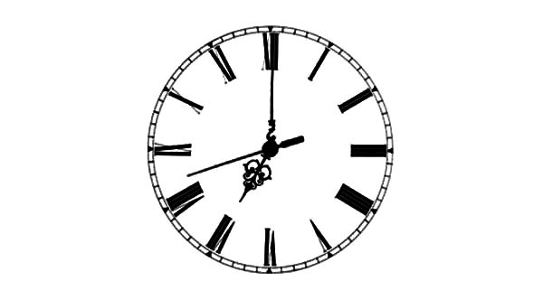 Analog Clock, : Classic Analog Clock Coloring Pages
