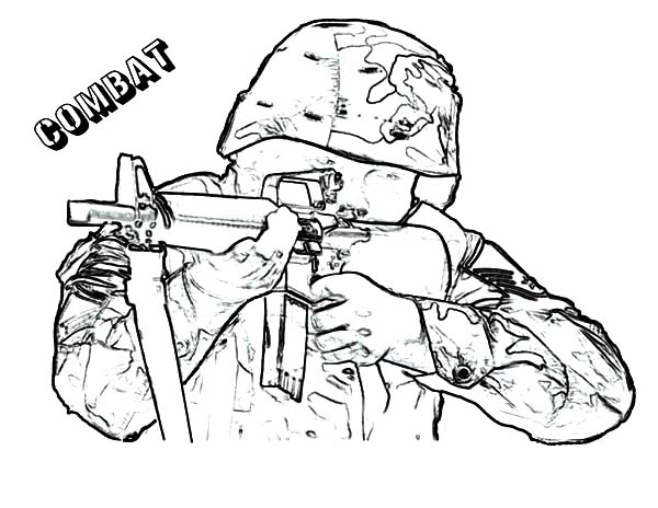 Army, : Combat Army Coloring Pages
