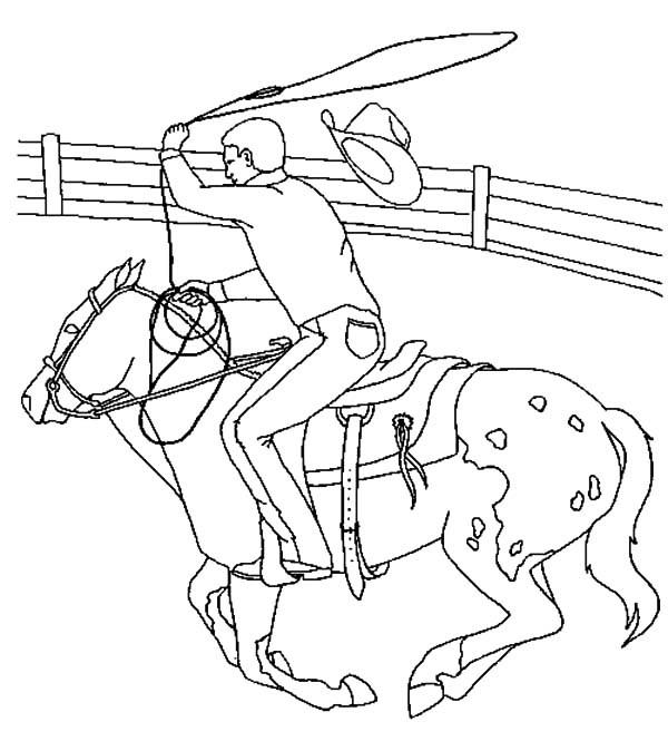 Appalooshorse, : Cowboy Riding Appalooshorse Coloring Pages