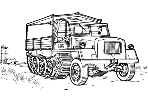 Army Car, : Cross Country Vehicle Army Car Coloring Pages