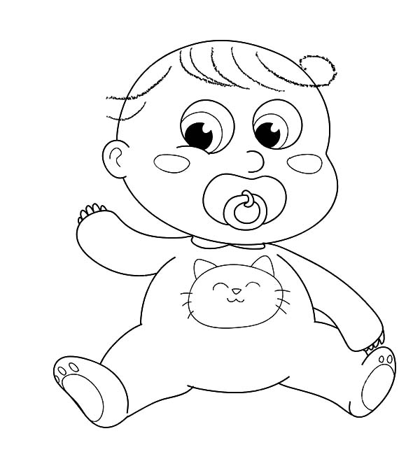 Babies, : Cute Babies Blushing Coloring Pages