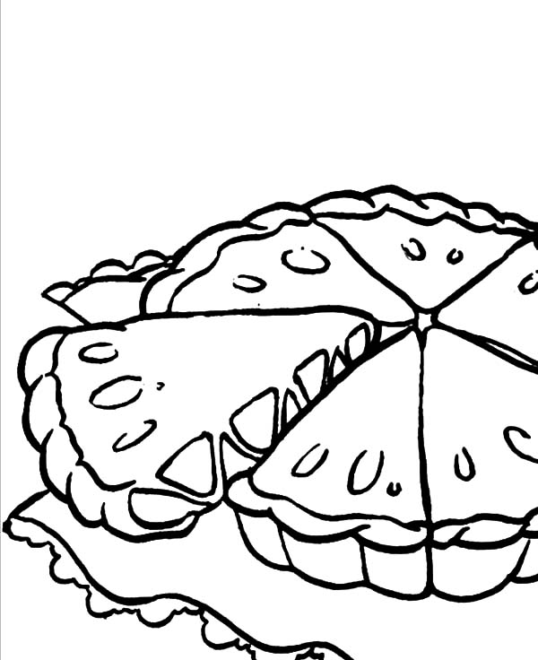 Apple Pie, : Cutting Apple Pie Coloring Pages