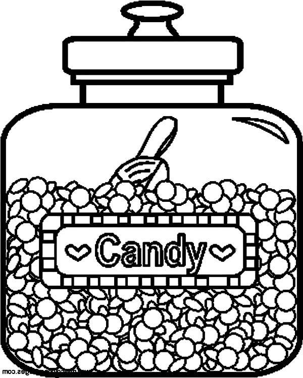 Delicious Candy Jar Coloring Pages