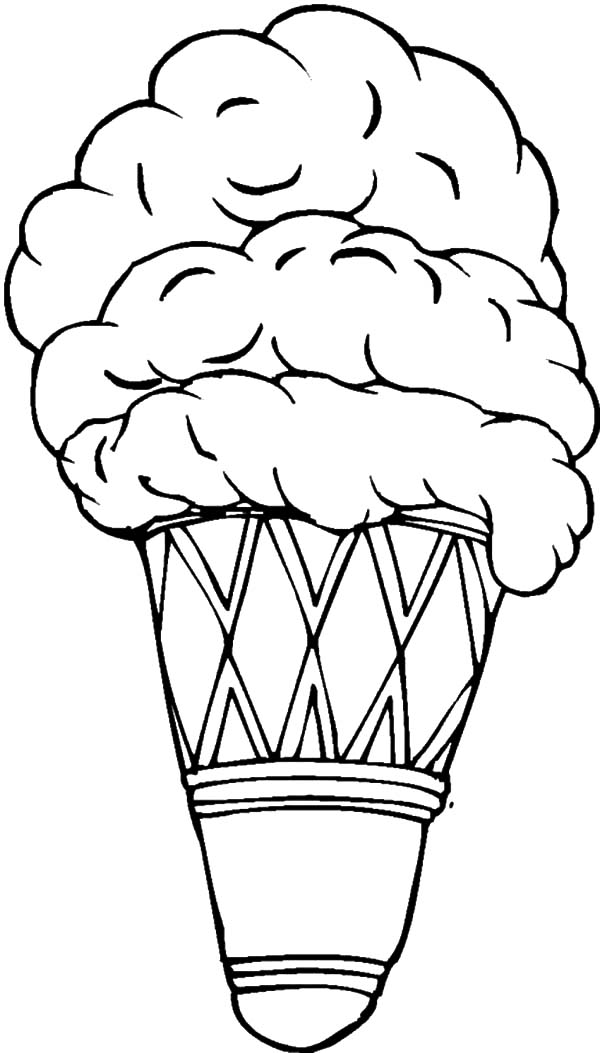 Ice Cream Cone, : Delicious Ice Cream Cone Coloring Pages