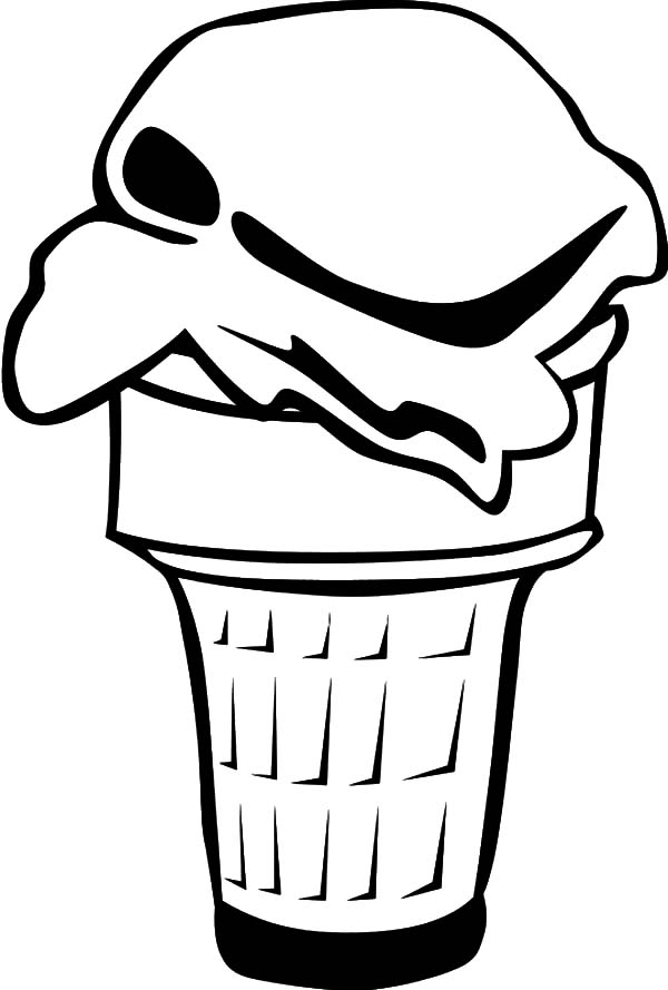 Dessert Menu is Ice Cream Cone Coloring Pages Bulk Color