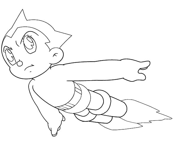 Astro Boy Free Coloring Pages