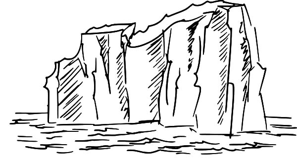 Iceberg, : Drawing Iceberg Coloring Pages