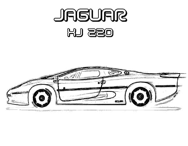 Jaguar Cars, : Drawing Jaguar XJ 220 Cars Coloring Pages
