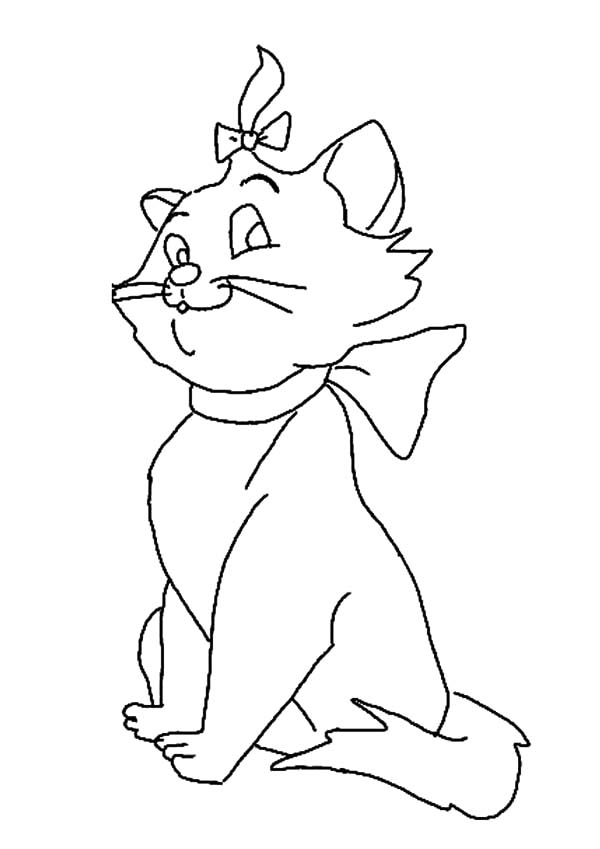Aristocats, : Drawing Marie from the Aristocats Coloring Pages
