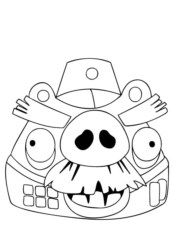 European War Angry Bird Pigs Coloring Pages