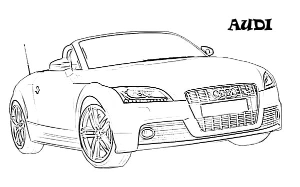 Audi Cars, : Exotic Audi Cars Coloring Pages
