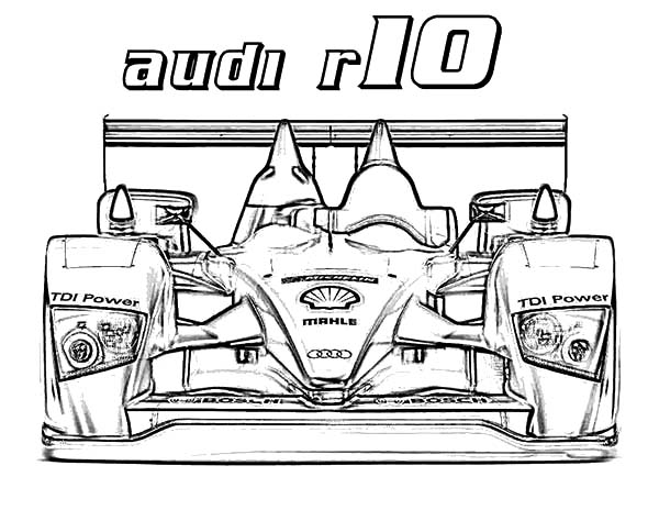 Audi Cars, : Formula One Audi Cars Coloring Pages
