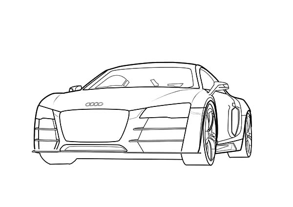 Audi Cars, : Future Design Audi Cars Coloring Pages