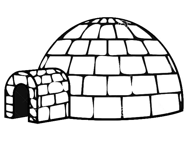 Igloo, : Get Inside an Igloo Coloring Pages
