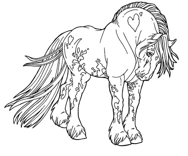 Appalooshorse, : Giant Appalooshorse Coloring Pages