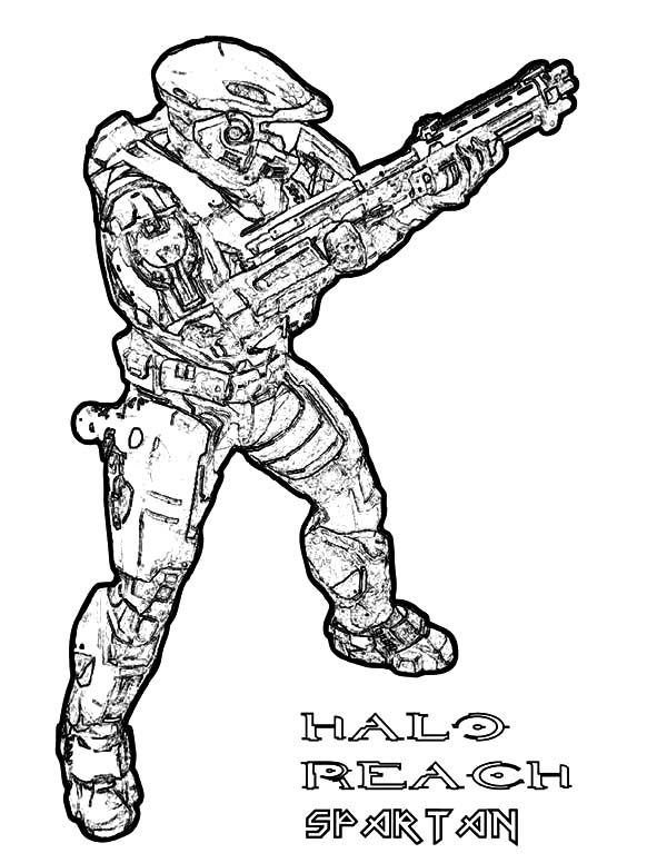 halo reach spartan army coloring pages