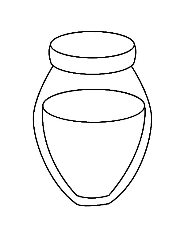 Jar, : Honey Jar Coloring Pages