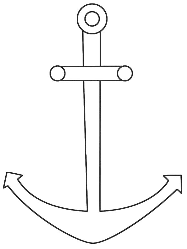 Anchor, : How to Draw Anchor Coloring Pages
