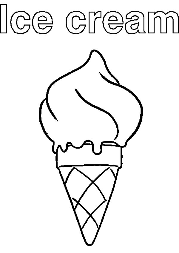 Ice Cream Cone, : Ice Cream Cone Coloring Pages