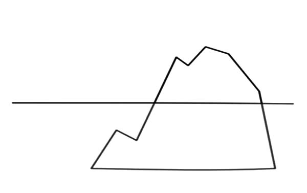 Iceberg, : Iceberg Outline Coloring Pages