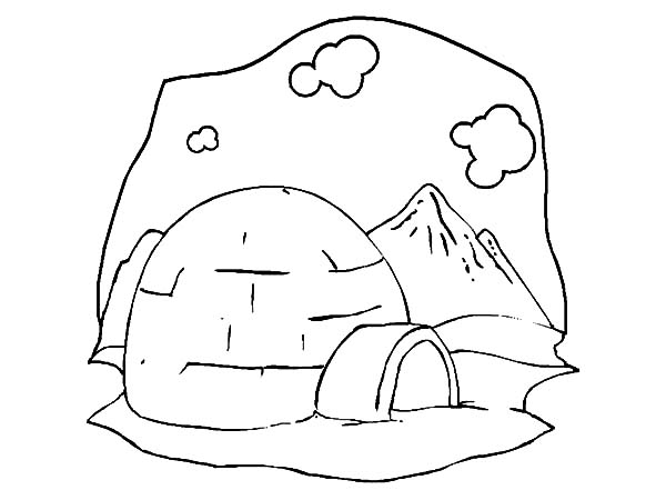 Iceberg, : Igloo Montana and Iceberg Coloring Pages
