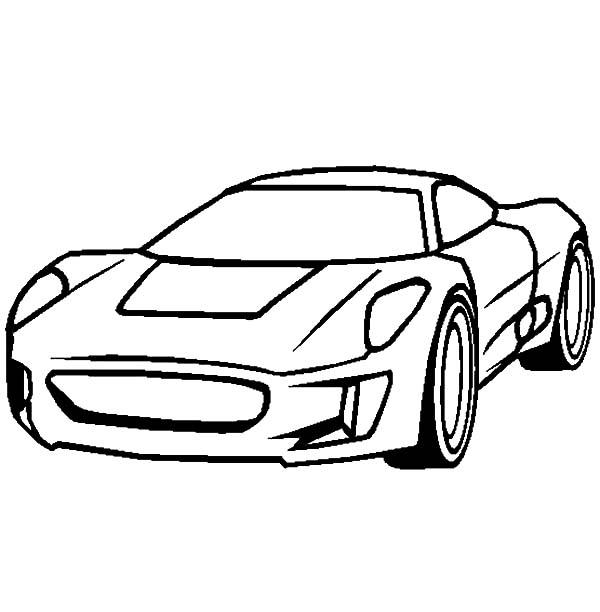 jaguar cx75 cars coloring pages - Race Cars Coloring Pages