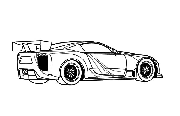 jaguar e type coloring pages - photo#6