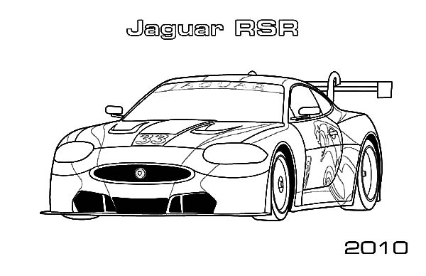 Jaguar Cars, : Jaguar RSR Cars 2010 Coloring Pages