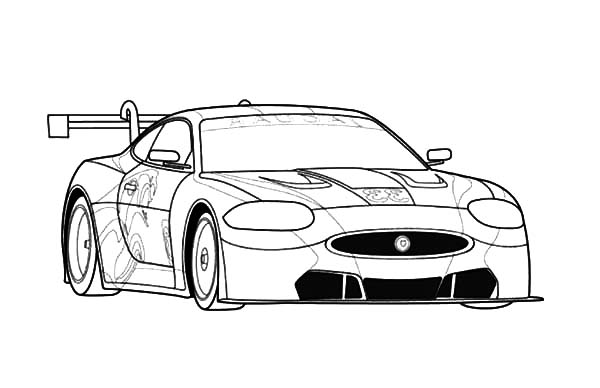 Jaguar Cars, : Jaguar RSR Sports Cars Coloring Pages