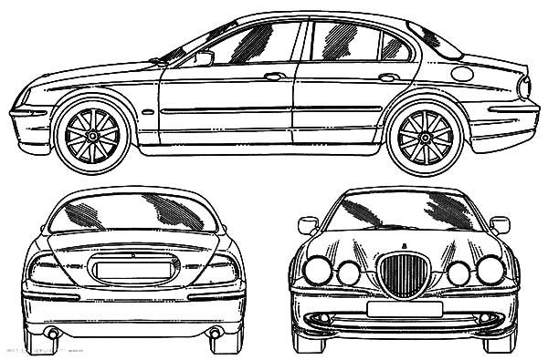 Jaguar Cars, : Jaguar X Type Cars Coloring Pages