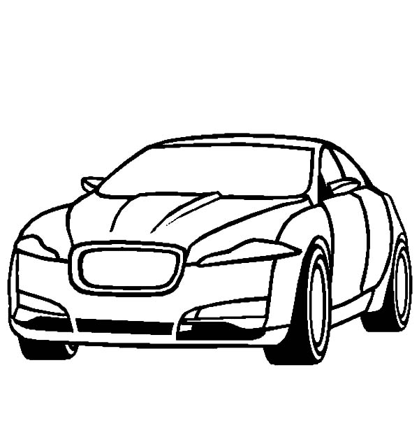 Jaguar Cars, : Jaguar XF Cars Cars Coloring Pages