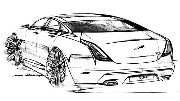 jaguar xj exterior sketch cars coloring pages awesome