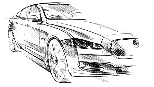 Jaguar Cars, : Jaguar XJ Exterior Sketch Wallpaper