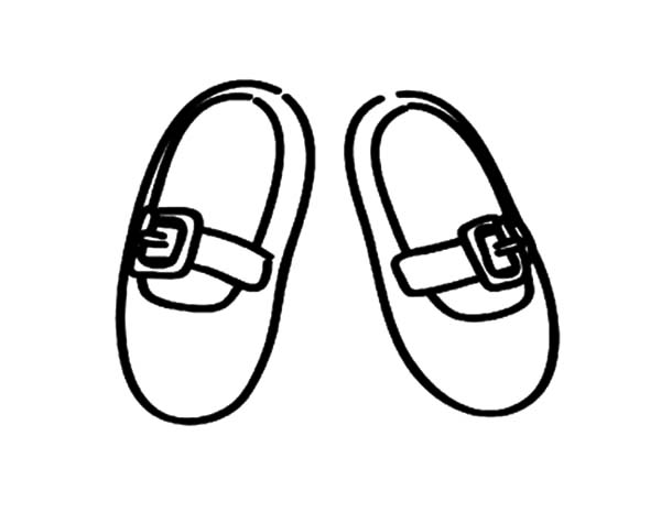 Ballerina Shoes, : Kid Size Ballerina Shoes Coloring Pages