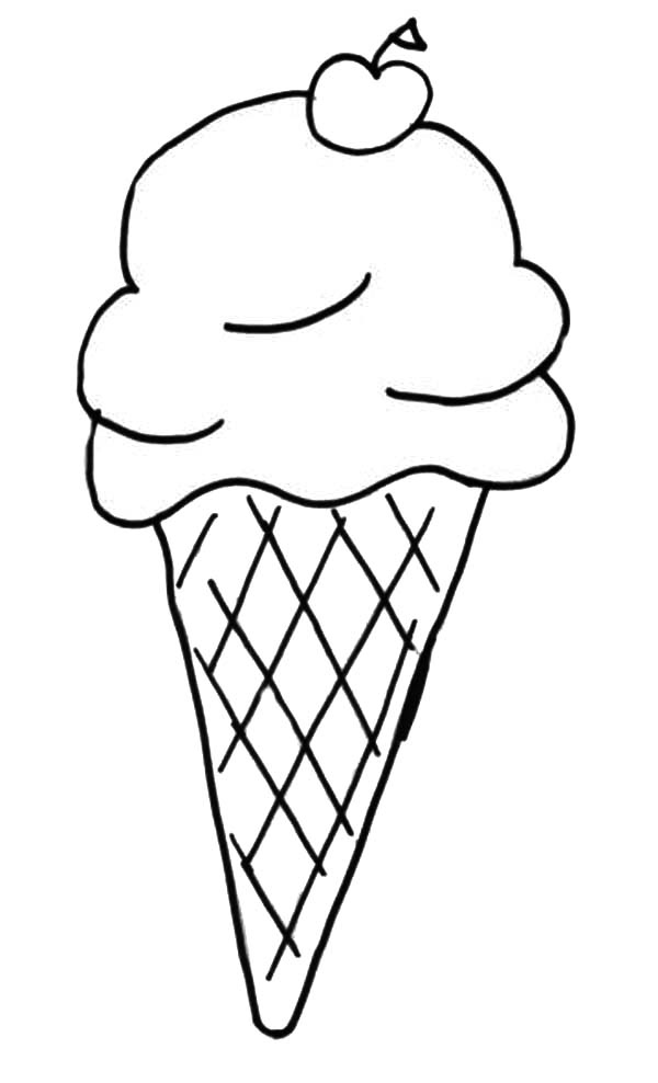 Kids Favorite Ice Cream Cone Coloring Pages Bulk Color