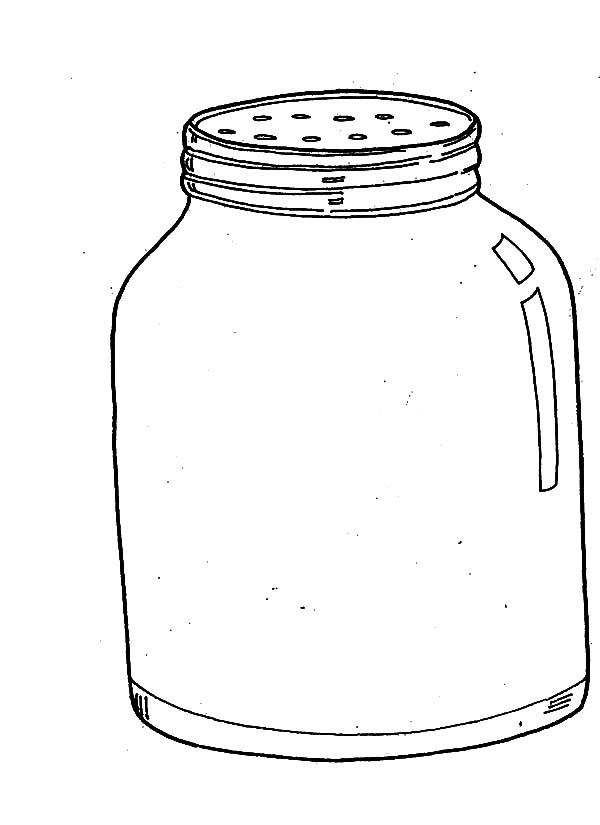 Jar, : Pepper Jar Coloring Pages