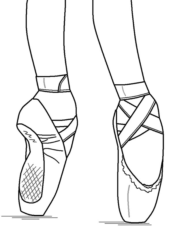 Ballerina Shoes, : Perform Ballet with Ballerina Shoes Coloring Pages