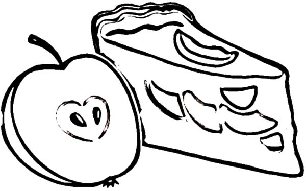 Apple Pie, : Picture of Apple Pie Slice Coloring Pages