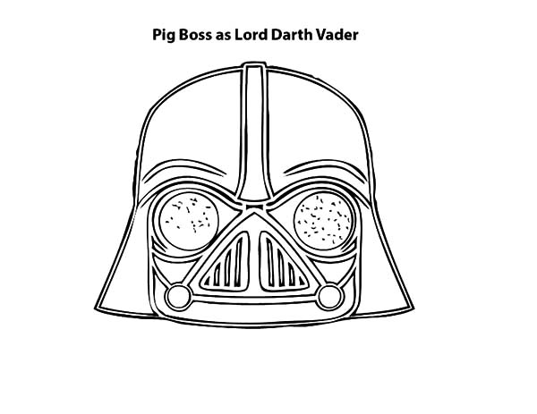 Angry Bird Pigs, : Pig Boss as Lord Darth Vader is Angry Bird Pigs Coloring Pages