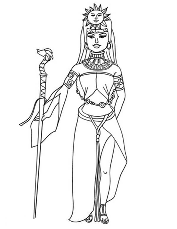 Aztec, : Queen of Aztec Coloring Pages