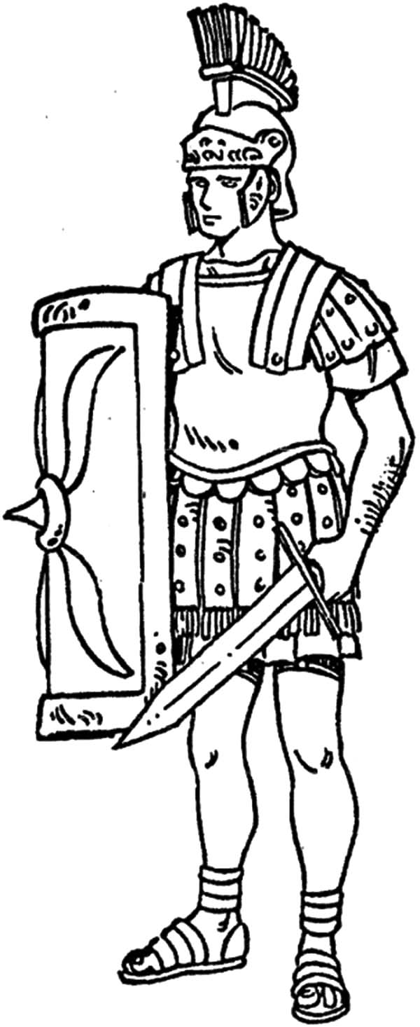 Rome Army Coloring Pages