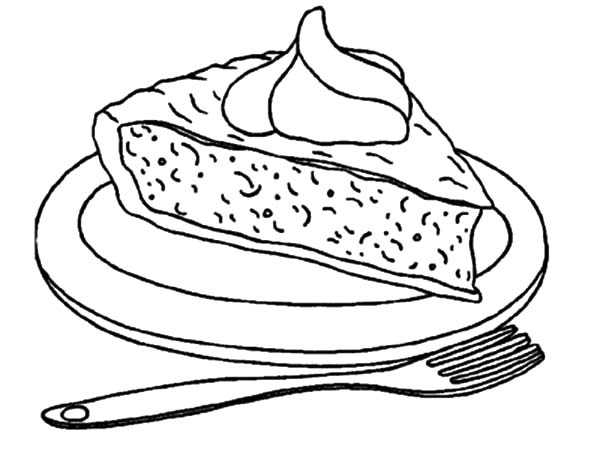 Apple Pie, : Second Slice of Apple Pie Coloring Pages