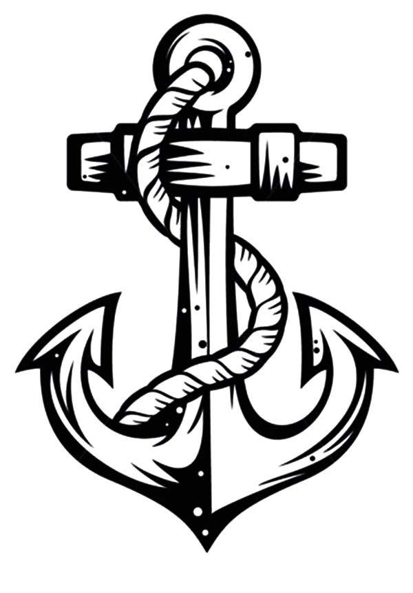 Anchor, : Sketch of Anchor Coloring Pages
