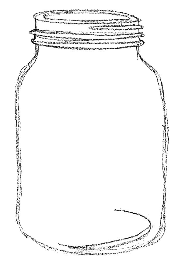 Jar, : Sketch of Jar Coloring Pages
