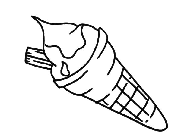 Ice Cream Cone, : Tasty Ice Cream Cone Coloring Pages